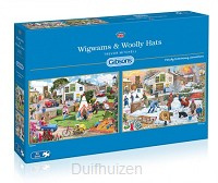 Puzzel 2x500 Wigwams and Woolly Hats