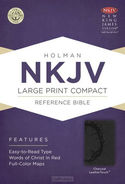 NKJV lap comp ref bible charcoal leather