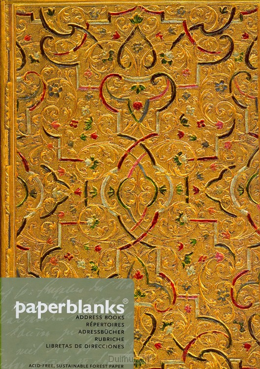Adresboek Gold inlay midi
